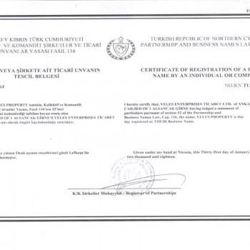 certificate, veles