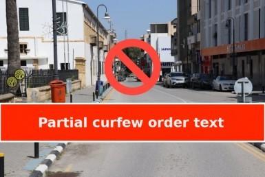 partial curfew order text