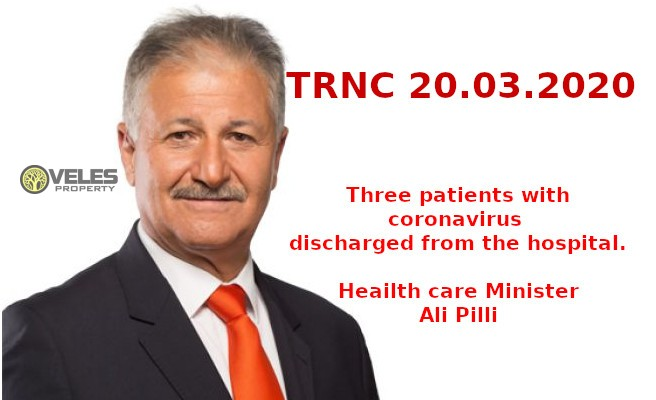 TRNC: Three patients with coronavirus discharged from the hospital 20/03/2020