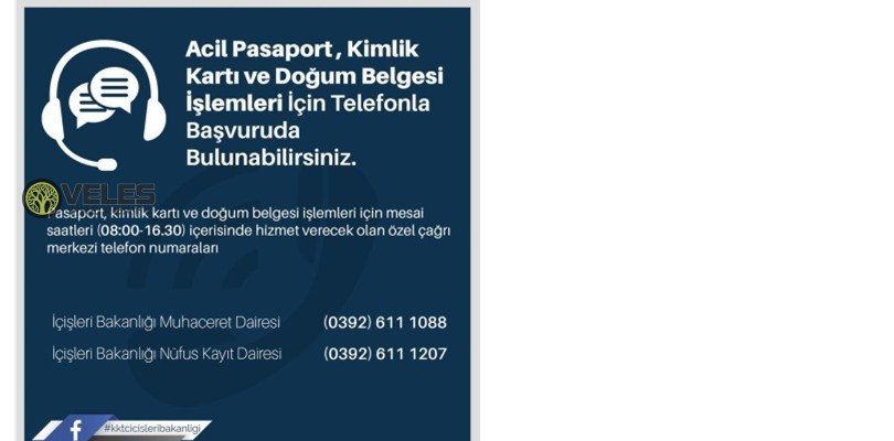 Coronavirus in TRNC: Hotline Phones to North Cyprus Ministry of Internal Affairs