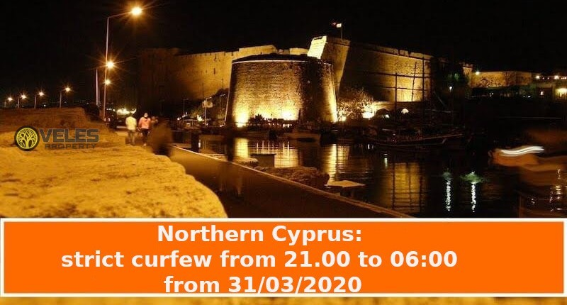 Northern Cyprus: strict curfew from 21.00 to 06:00 from 03/31/2020