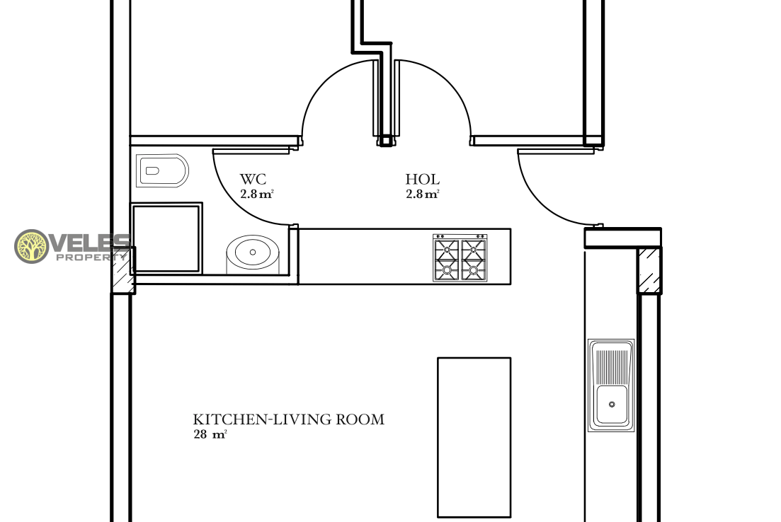 SA-210 TWO BEDROOM APARTMENT IN A NEW COMPLEX