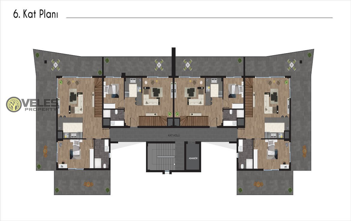 SA-171 1 + 1 APARTMENT IN A NEW PROJECT