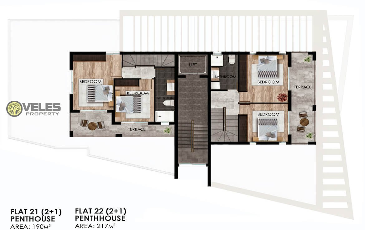 SA-222 TWO BEDROOM APARTMENT-PENTHOUSE PROJECT