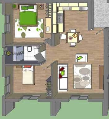 SA-2167 APARTMENT 2 + 1 IN AN EXCELLENT COMPLEX