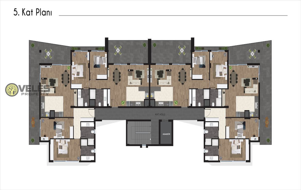 SA-254 2 + 1 APARTMENT IN A NEW PROJECT