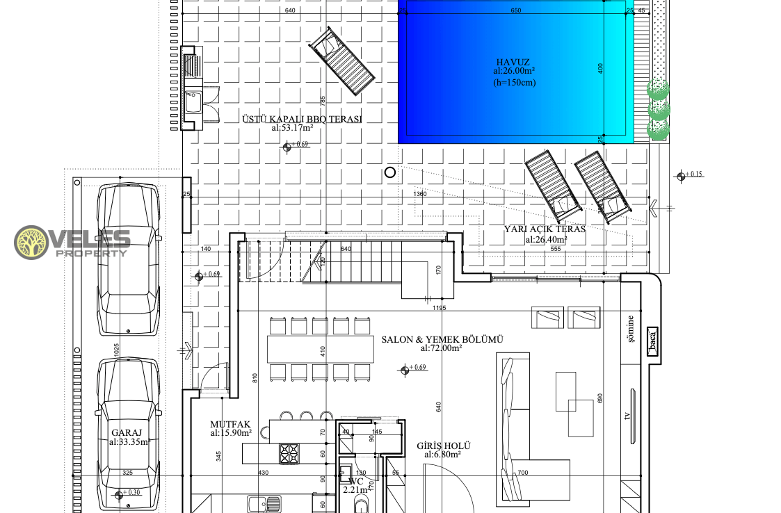 SV-341 THREE BEDROOM VILLA IN NEW PROJECT