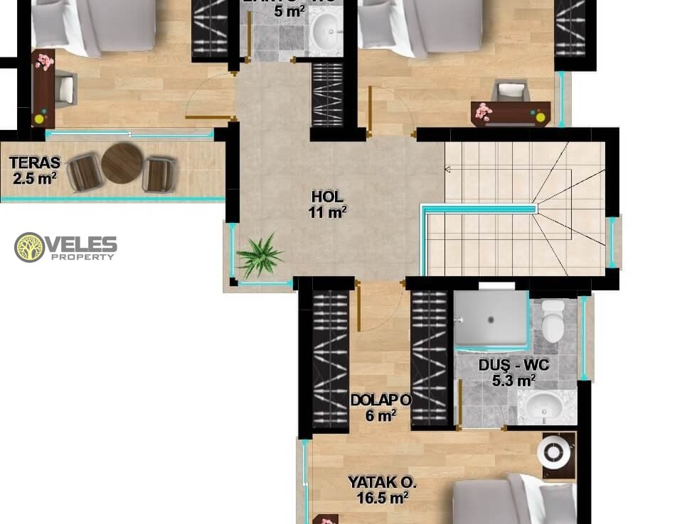 SV-352 SPACIOUS VILLA 3 + 1 IN CHATALKOY